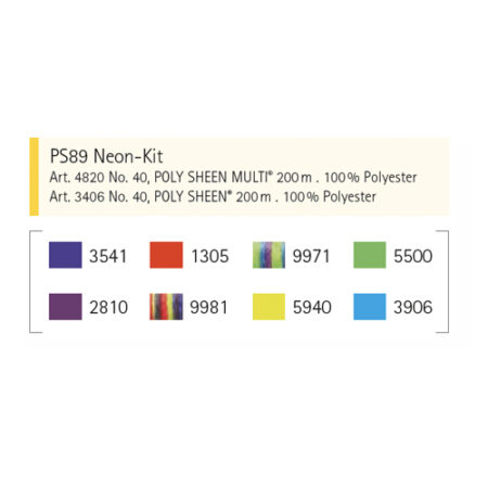 PS8 Neon Kit Kleuren